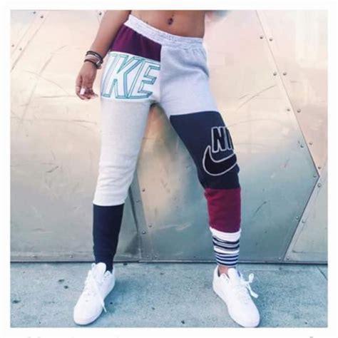 girls gray and black joggers pants pants nike sweatpants joggers nike pants sweats