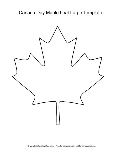 pattern tracing paper canada canada day maple leaf template theleaf co