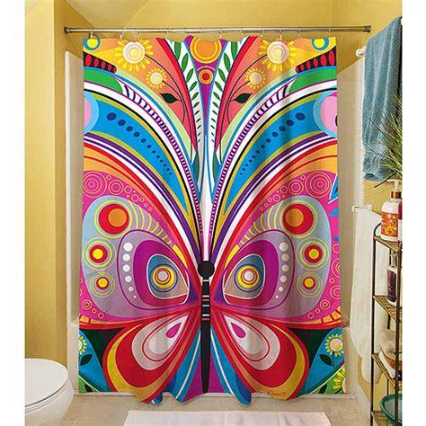 butterfly curtains walmart thumbprintz pattern butterfly shower curtain 71 quot x 74