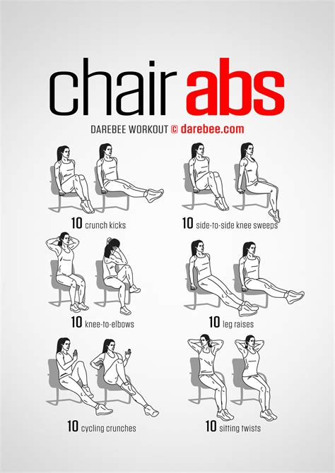 desk exercises for abs chair abs workout