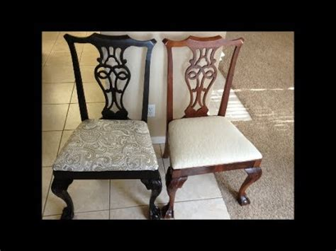 Spray Painting Dining Room Chairs by Spray Painted Dining Room Chairs Before And After
