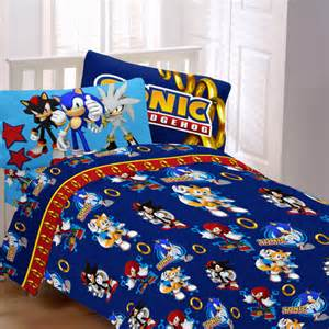 Sonic The Hedgehog Bedroom Set Sonic Speed Bedding Sheet Set Walmart