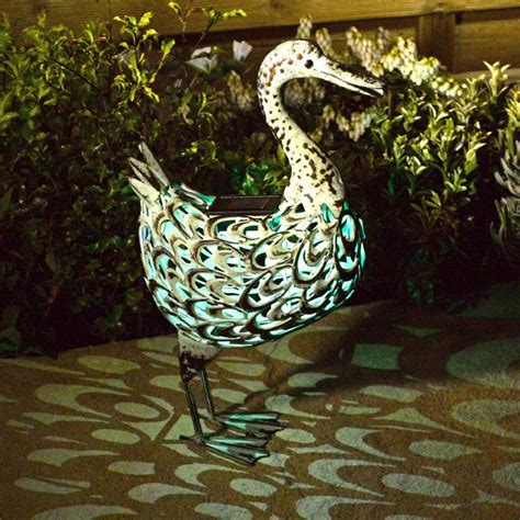 smart garden solar metal duck light on sale fast