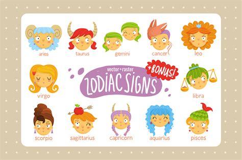 cute zodiac signs illustrations  creative market