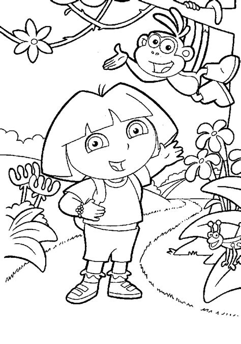 dora the explorer coloring pages nick jr dora istražuje bojanke za printanje besplatne igre za