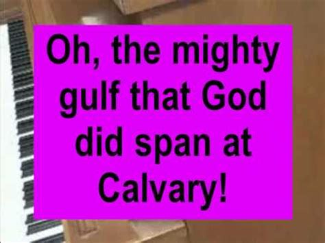 at calvary years i spent in vanity and pride