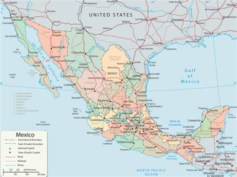 mexico in the map california mexico map california map