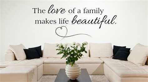 living room decals wall decal for living room the love of a family makes