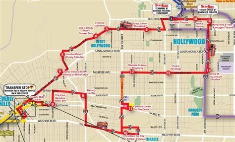 walk of fame map hop on hop decker tour from anaheim anaheim