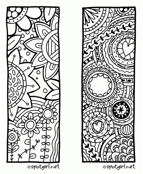 printable bookmarks to colour pdf bookmarks coloring pages az coloring pages