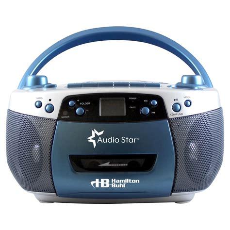 cassette mp3 player hamiltonbuhl audiostar boombox radio cd usb cassette