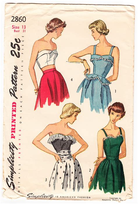 pattern review simplicity 2860 vintage 1949 simplicity 2860 sewing pattern misses