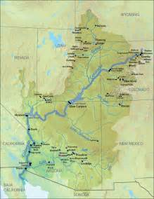colorado river map list of dams in the colorado river system