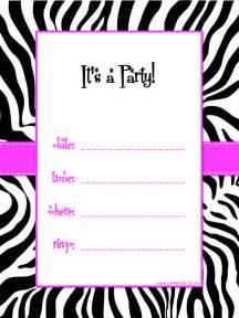 free printable zebra print baby shower invites black white and pink zebra striped theme