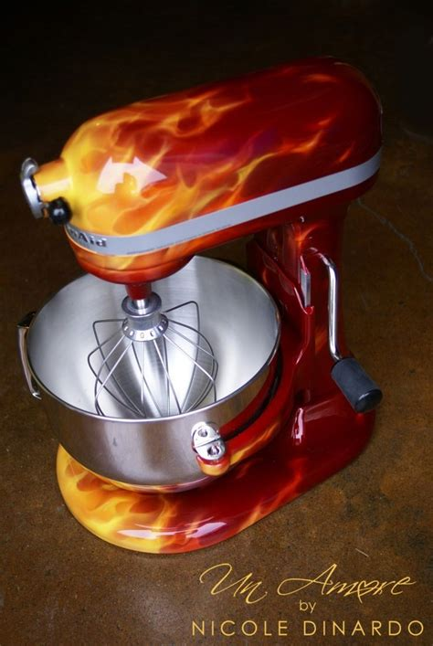 Painting Kitchen Aid Mixer by Quot True Quot Kbc Apple Custom Artwork Only Mixer Not