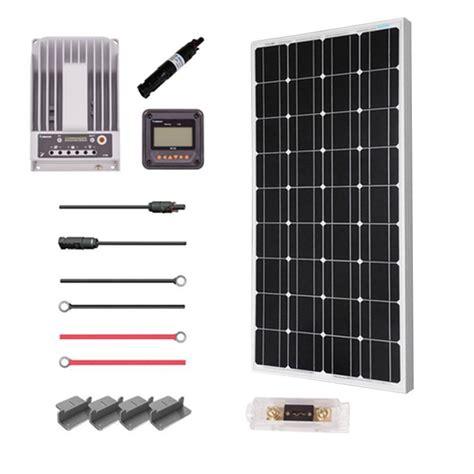 Heater 100 Watt Premium renogy 100 watt 12 volt mono solar premium kit for grid solar system premium100dcm20 the