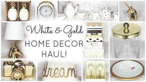 marshalls home decor white gold home decor haul homegoods target world