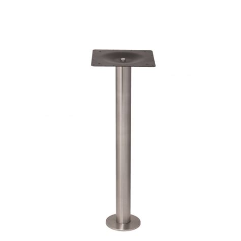 counter height table base eclipse bolt stainless steel table base counter
