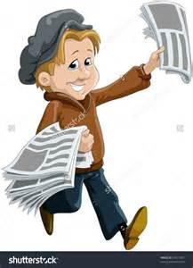 Newspaper Delivery Boy Clipart - clipartsgram.com A-paper Clip Art