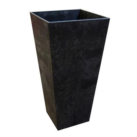 32 Inch Planter Pots Tierra Verde 14 In X 27 5 In Slate Rubber Self Watering