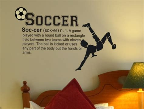 soccer decals for bedroom soccer definition wall decal for kids