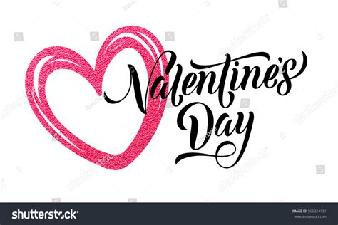 valentines day glitter text glitter valentines day text stock vector