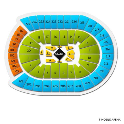 t mobile arena tickets t mobile arena seating chart