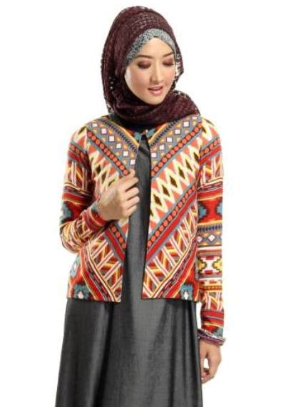 Baju Muslim Batik Dress 20 Model Baju Batik Muslim Modern Terbaru Butikmuslimin