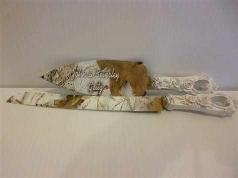 Wedding Cake Knife by Rustic Wedding Camo Wedding Cake Knife And Serving Set In Snow