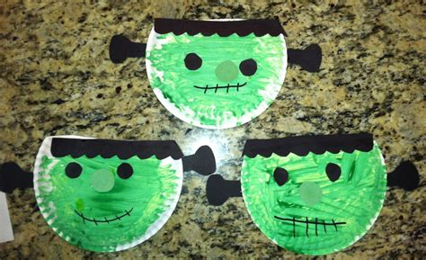 What Can You Make With A Paper Plate - frankenstein munchkins and