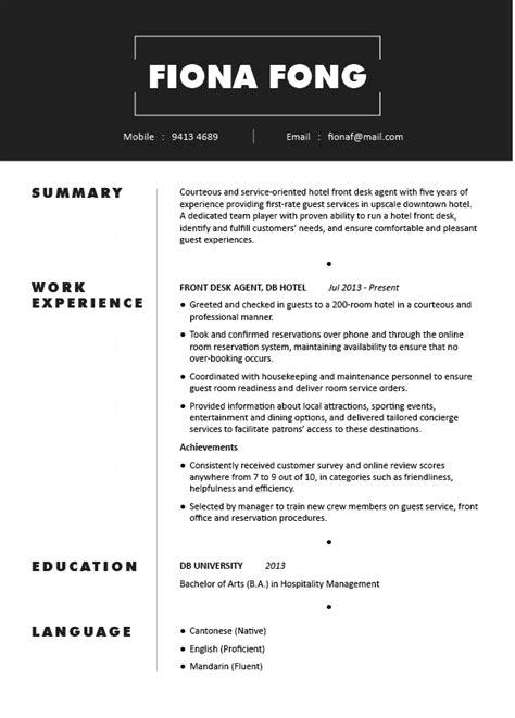 fresh graduate resume sle resume sles hong kong fresh graduate resume sle resume