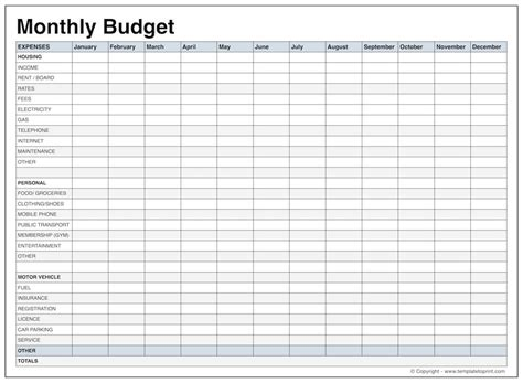 sample monthly budget for adults families 18 monthly budget