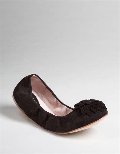 bloch flat shoes bloch posy ballet flats in black black suede lyst
