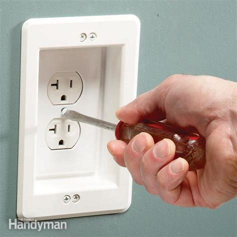 install a wall hugger receptacle the family handyman