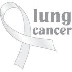 what color is the ribbon for lung cancer images on vintage cards