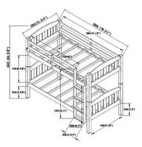 Bunk Bed Measurements Mainstays Wood Bunk Bed Espresso Walmart Ca