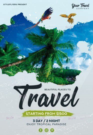 travel template psd travel psd flyer template 21269 styleflyers