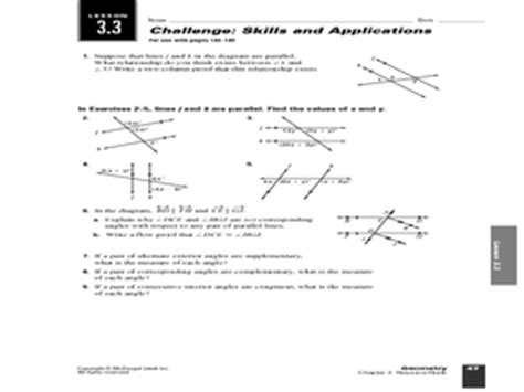 Chapter 3 Skills And Applications Worksheet Answers