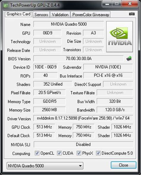 nvidia quadro 5000 and power consumption with furmark