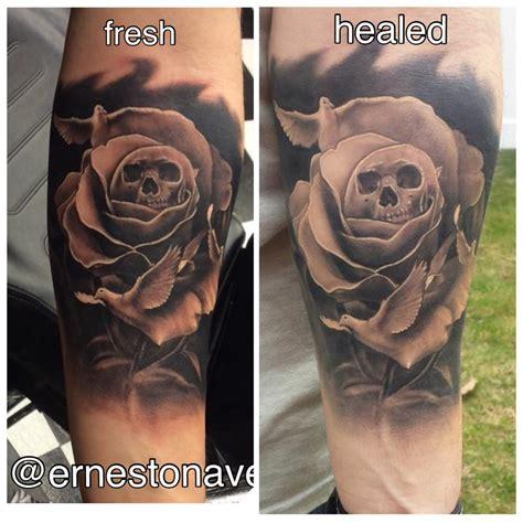 black and grey tattoo fresh vs healed black grey tattoos and grayscale tattoos lost art