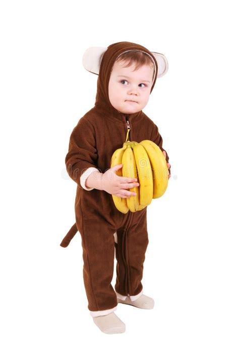Baby Monkey Banana Suit baby in monkey costume with bananas royalty free stock photo image 8492415