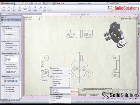 solidworks rotate section view isometric section view and 3d drawing view in solidworks