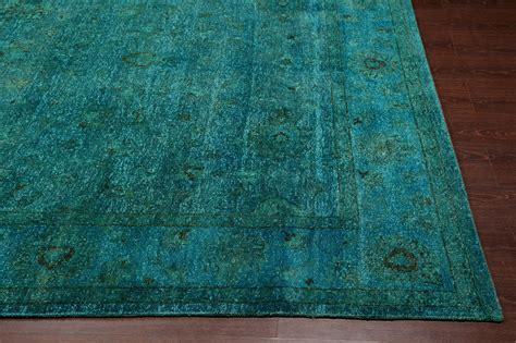 rugs wool rugsville traditional overdyed light blue wool rug 8 x 10 rugsville shopping great deals