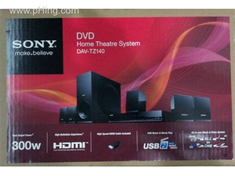 wts brand new sony dvd home theatre system dav tz140