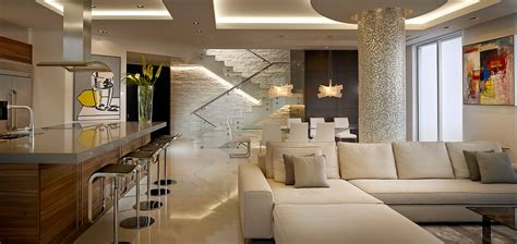 Living Room Showpiece by Breathtaking Penthouse By Pepe Calderin Design With