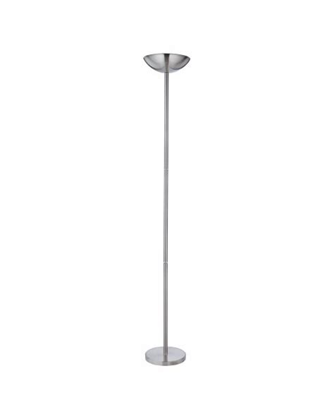 Brushed Silver Floor L Searchlight 1230ss 1 Light In Brushed Silver