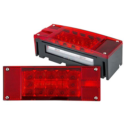 trailer brake light kit led trailer light kit 8 quot rectangle led trailer stop turn