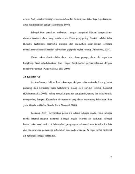 Pakan Ikan Lele Dari Daun Daunan laporan praktik kerja lapangan