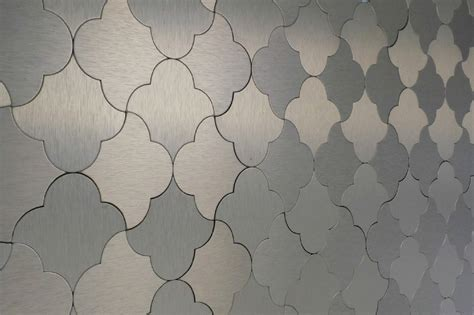 Damask Pattern Mosaic Tile | salerno mosaic tile peel stick metal series gold