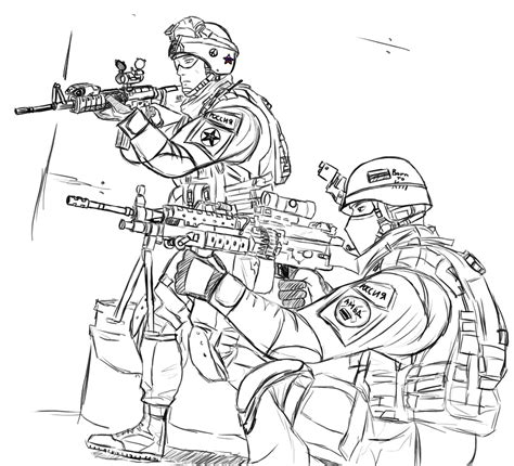 Free Printable Army Coloring Pages For